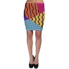 Background Abstract Memphis Bodycon Skirt