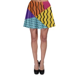 Background Abstract Memphis Skater Skirt