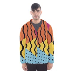 Background Abstract Memphis Hooded Wind Breaker (men)