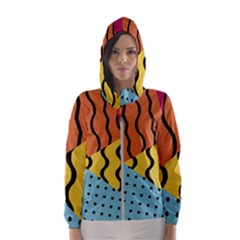 Background Abstract Memphis Hooded Wind Breaker (women)