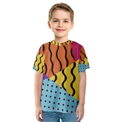 Background Abstract Memphis Kids  Sport Mesh Tee