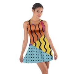 Background Abstract Memphis Cotton Racerback Dress