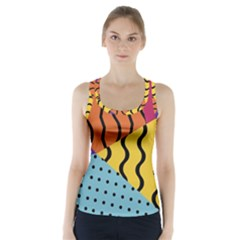Background Abstract Memphis Racer Back Sports Top
