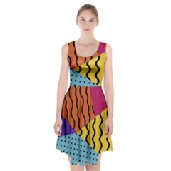 Background Abstract Memphis Racerback Midi Dress