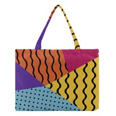 Background Abstract Memphis Medium Tote Bag