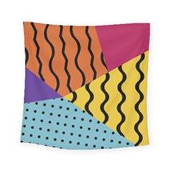 Background Abstract Memphis Square Tapestry (small)