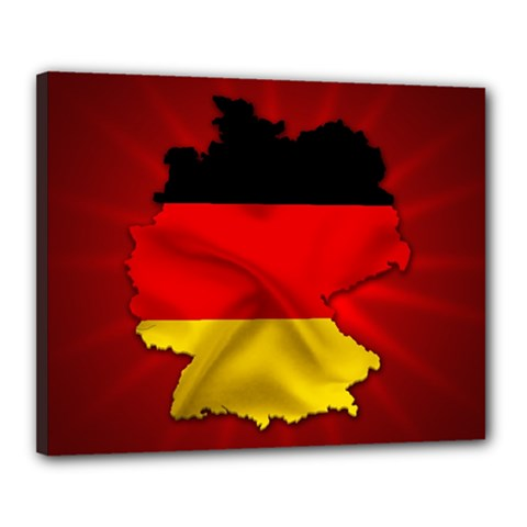 Germany Map Flag Country Red Flag Canvas 20  X 16