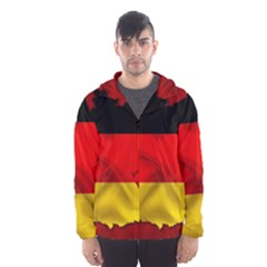 Germany Map Flag Country Red Flag Hooded Wind Breaker (men)