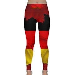 Germany Map Flag Country Red Flag Classic Yoga Leggings
