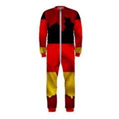 Germany Map Flag Country Red Flag Onepiece Jumpsuit (kids)