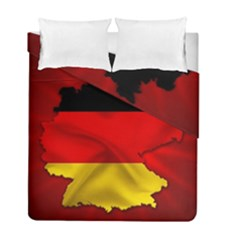 Germany Map Flag Country Red Flag Duvet Cover Double Side (full/ Double Size)