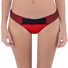 Germany Map Flag Country Red Flag Reversible Hipster Bikini Bottoms