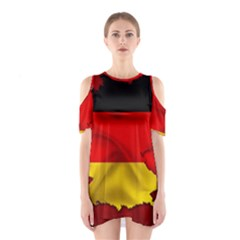 Germany Map Flag Country Red Flag Shoulder Cutout One Piece