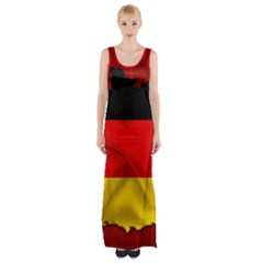 Germany Map Flag Country Red Flag Maxi Thigh Split Dress