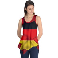 Germany Map Flag Country Red Flag Sleeveless Tunic