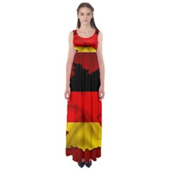 Germany Map Flag Country Red Flag Empire Waist Maxi Dress
