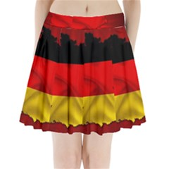 Germany Map Flag Country Red Flag Pleated Mini Skirt