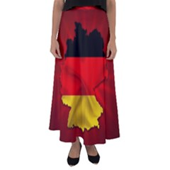 Germany Map Flag Country Red Flag Flared Maxi Skirt
