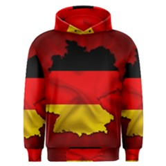 Germany Map Flag Country Red Flag Men s Overhead Hoodie