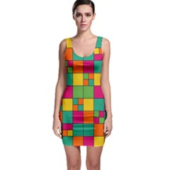 Squares Abstract Background Abstract Bodycon Dress