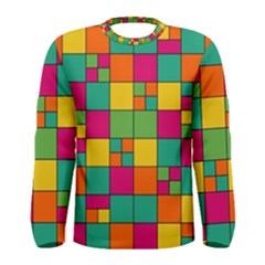 Squares Abstract Background Abstract Men s Long Sleeve Tee