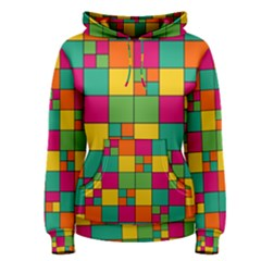 Squares Abstract Background Abstract Women s Pullover Hoodie