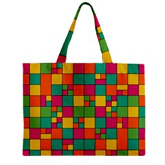 Squares Abstract Background Abstract Zipper Mini Tote Bag