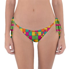 Squares Abstract Background Abstract Reversible Bikini Bottom