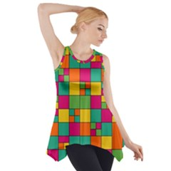 Squares Abstract Background Abstract Side Drop Tank Tunic