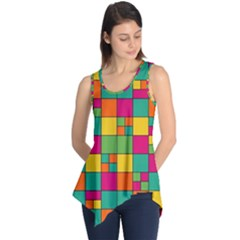 Squares Abstract Background Abstract Sleeveless Tunic