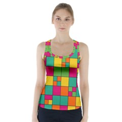Squares Abstract Background Abstract Racer Back Sports Top