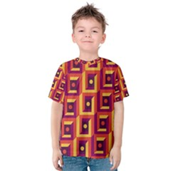 3 D Squares Abstract Background Kids  Cotton Tee