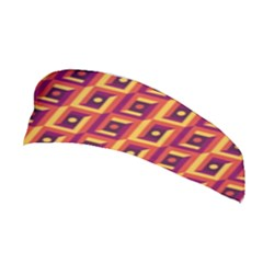 3 D Squares Abstract Background Stretchable Headband