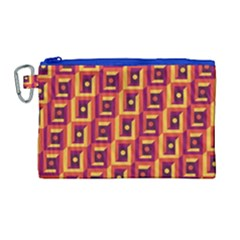 3 D Squares Abstract Background Canvas Cosmetic Bag (large)