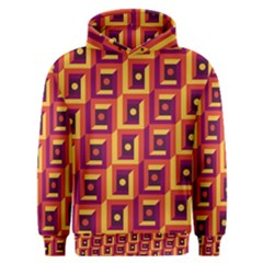 3 D Squares Abstract Background Men s Overhead Hoodie