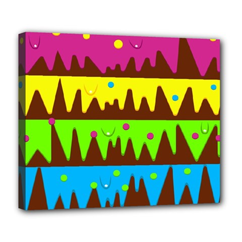 Illustration Abstract Graphic Deluxe Canvas 24  X 20