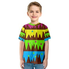 Illustration Abstract Graphic Kids  Sport Mesh Tee