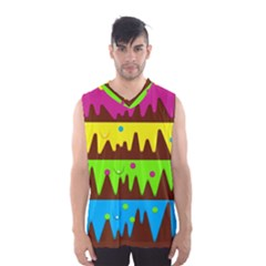 Illustration Abstract Graphic Men s Basketball Tank Top
