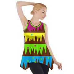 Illustration Abstract Graphic Side Drop Tank Tunic