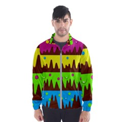 Illustration Abstract Graphic Wind Breaker (men)