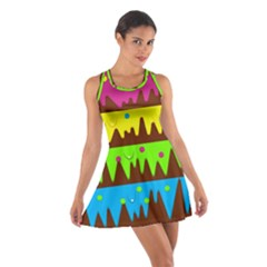 Illustration Abstract Graphic Cotton Racerback Dress