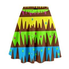 Illustration Abstract Graphic High Waist Skirt