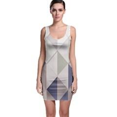 Background Geometric Triangle Bodycon Dress