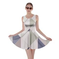 Background Geometric Triangle Skater Dress