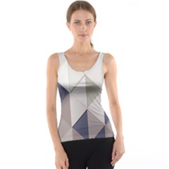 Background Geometric Triangle Tank Top