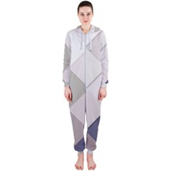 Background Geometric Triangle Hooded Jumpsuit (ladies)