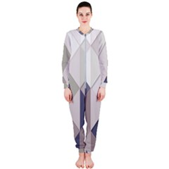 Background Geometric Triangle Onepiece Jumpsuit (ladies)