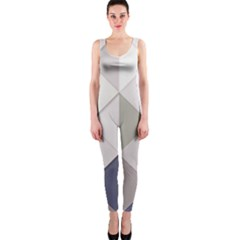 Background Geometric Triangle One Piece Catsuit