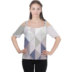 Background Geometric Triangle Cutout Shoulder Tee