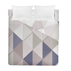 Background Geometric Triangle Duvet Cover Double Side (full/ Double Size) by Nexatart